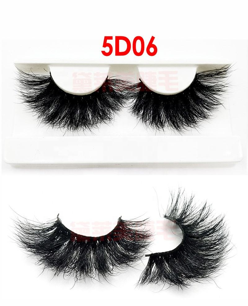 5D 25mm mink eyelash supplier creates its own brand of 25mm mink eyelashes