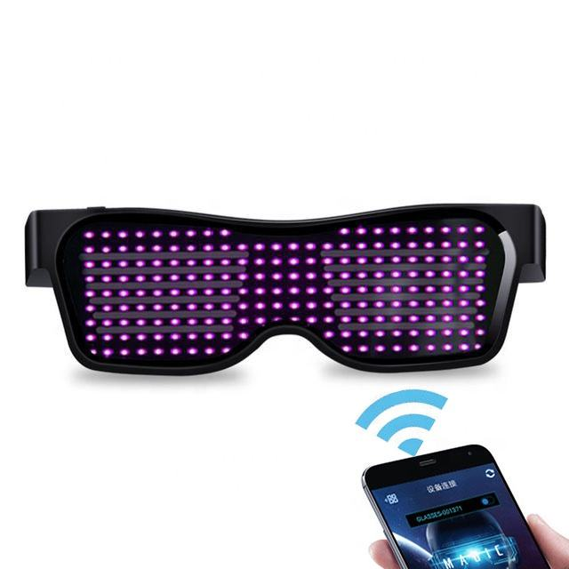 USB Opgeladen Glow Light Telefoon App Controle Fashion Magic LED Bluetooth Brillen Voor Halloween Nieuwe Jaar Christmas Party