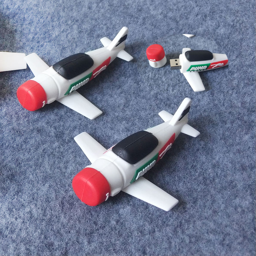 Factory directly custom 8GB PVC 3D airplane usb flash drive for promotion