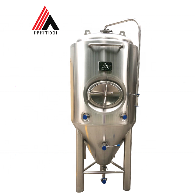 Conical Fermenter 500L 1000L 2000L 3000L Bbl Conical Beer Wine Winery Kombucha Fermenting Equipment Fermenter With Dimple Plate Cooling