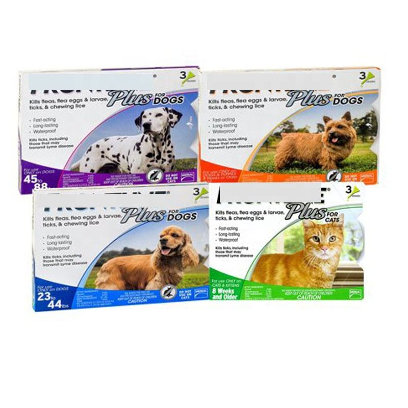 New Flea tick drops frontline plus Dog cats 45-88 Lb Flea & Tick Treatment 3 Dose