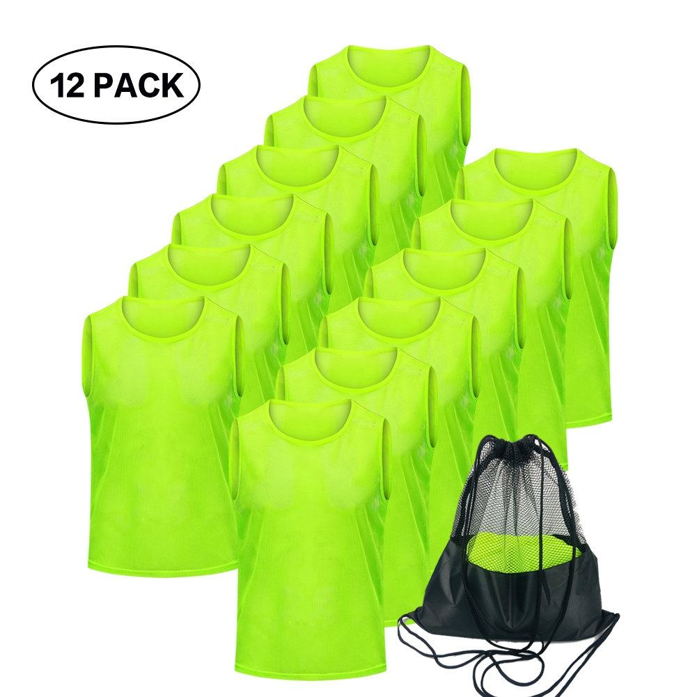 Whole Sale Unisex Soccer Training Vests Sports Mesh Vest Soccer for Kids Youth Adults