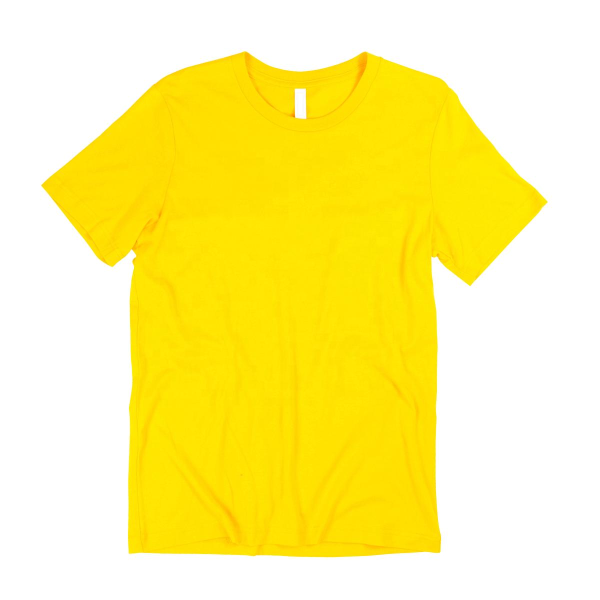 Yellow Color Men's Plain T Shirt From Bangladesh