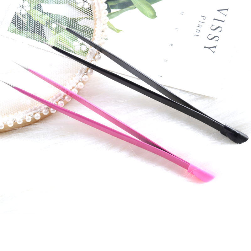 TSZS Anti-static Dual Purpose Head Nail Tweezers Nail Art Decoration Picking Remove Manicure Tools