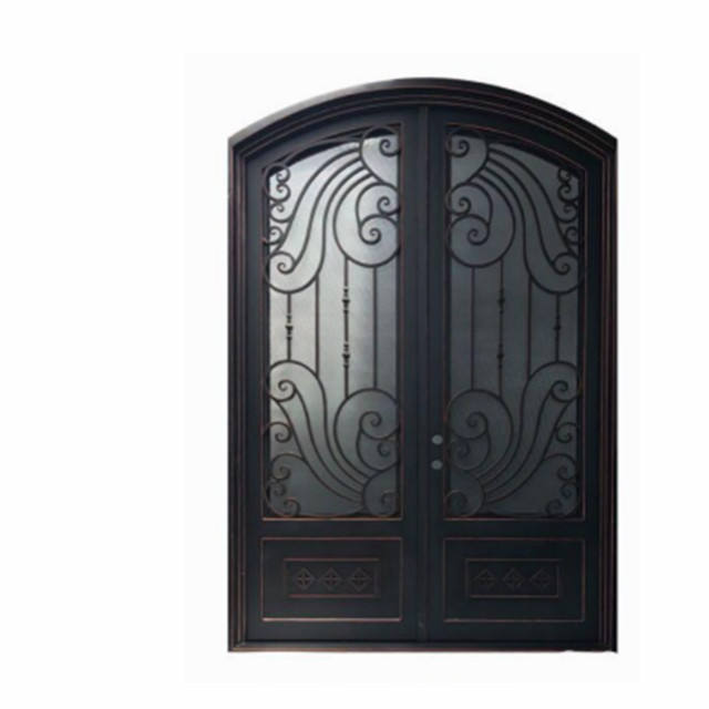 New decorative metal door aluminum alloy sliding iron door