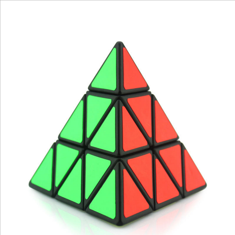china factory Hot Selling popular custom high plastic pyramid 3 x 3 magic puzzle cube