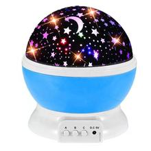 Indoor children rotating star sky projection bedroom dream starry  lamp led galaxy projector star night lights for kids baby