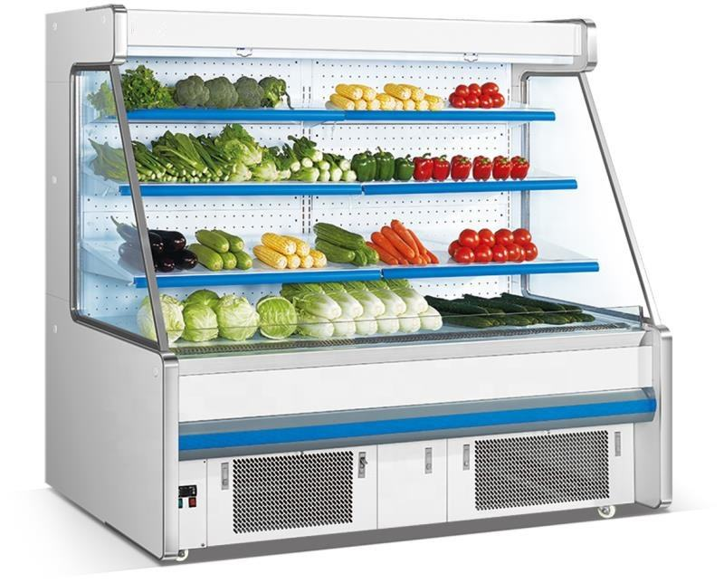 Supermarket commercial Open display cooler for Vegetable and fruit display