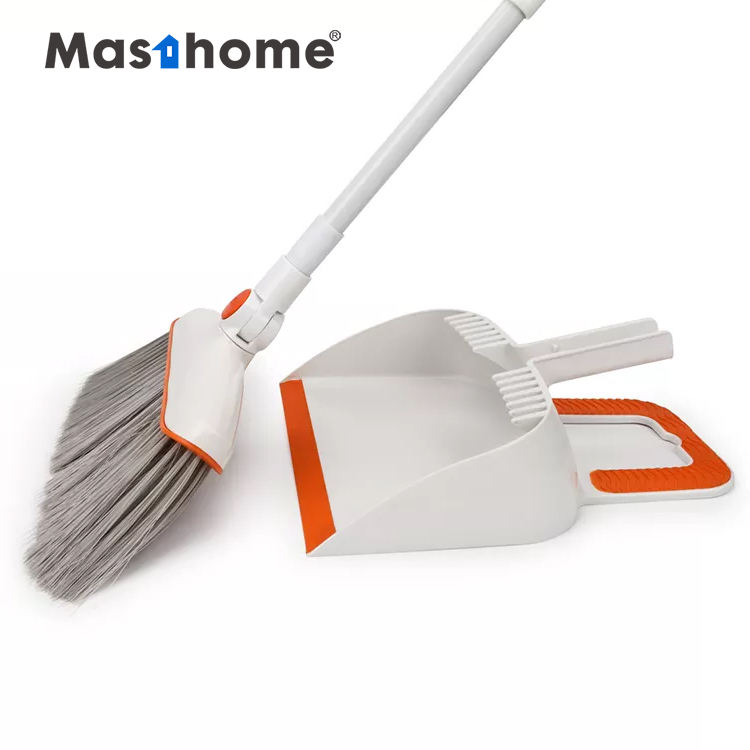 Masthome EAST Windproof Household Cleaning Tool Plastic Long Handle Broom And Dustpan Set