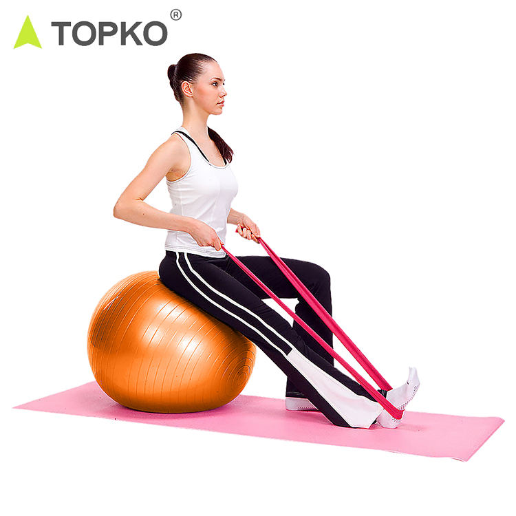 TOPKO Anti Burst Balance Exercise Ball with Hand Pump GYM Yoga Ball