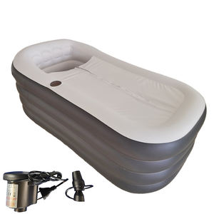New Outdoor Inflatable Hot Tub Spa Portable Folding Bathtub for Adult