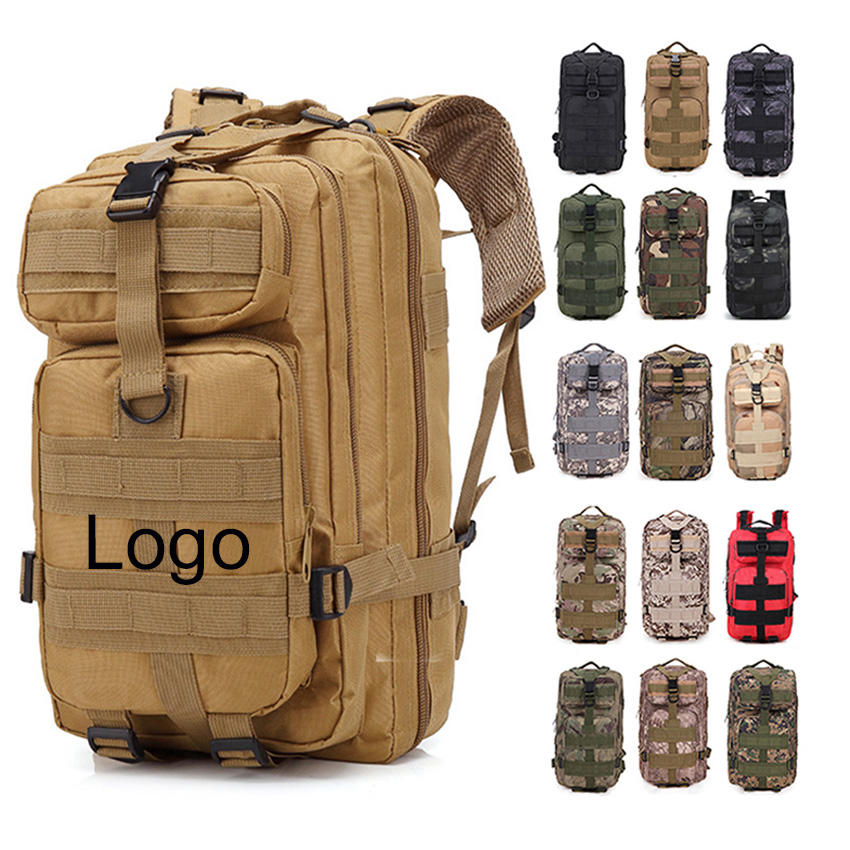 Hiking Camping Walking Molle Army Sport Travel Outdoor Rucksack 3P Army Military 30L Tactical Backpack