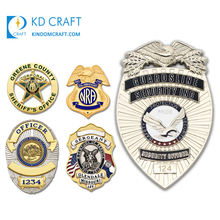 High quality personalized custom metal zinc alloy embossed 3d enamel military sheriff security chaplain badge