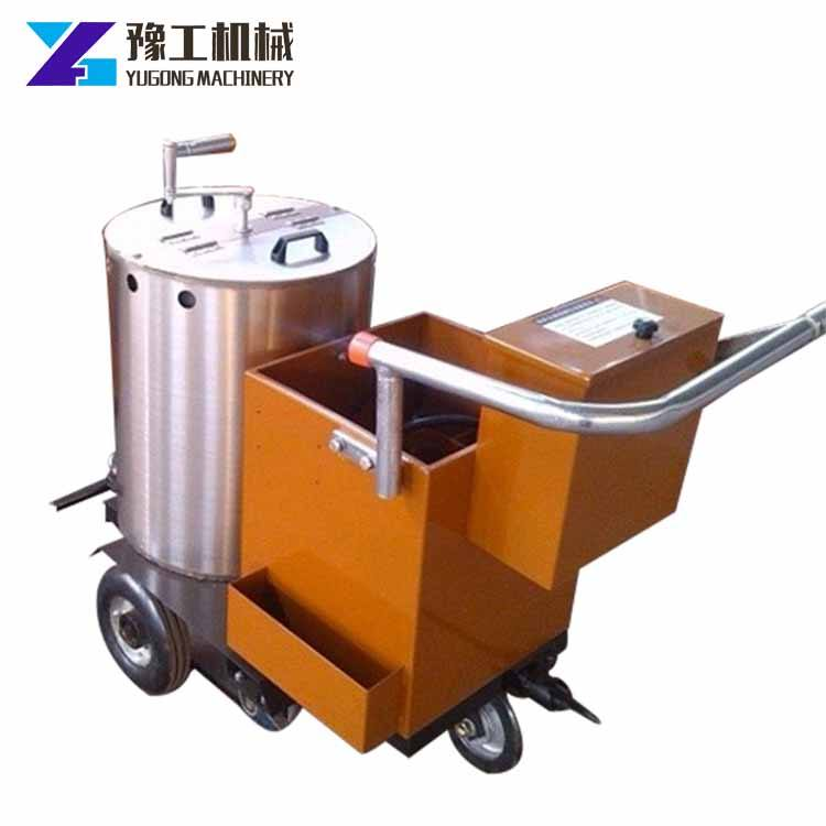 Fast flexible operation manual thermoplastic road marking machine with 100kg thermoplastic tank