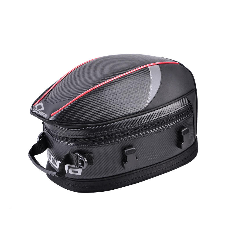 V453 New 2020 high quality PU scalable helmet bag waterproof tail and tank bag for motorcycle