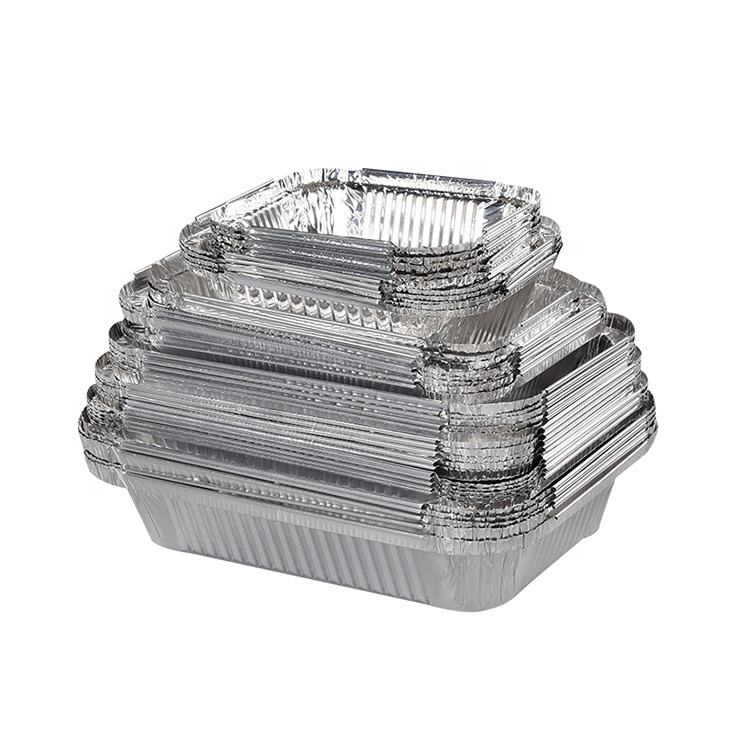 OEM Logo 300-9600ml aluminium foil for food packing container disposable foil tray