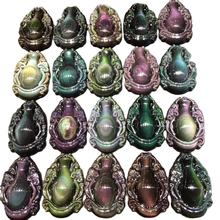 Wholesale Natural Quartz Crystal Carving Gourd Colorful Obsidian Crystal Pendant