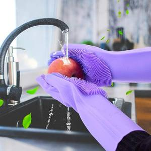 Dishwashing Gloves Silicone Cleaning Brush Dish Washing Sponge Great for Washing Dish  Kitchen 150g
