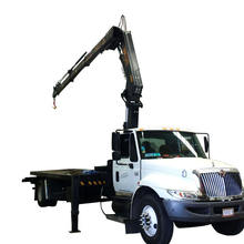 8T Hydraulic Folding Truck Mounted Knuckle Boom Mobile Crane