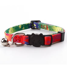 Custom sublimation printed cat breakaway collar with bells