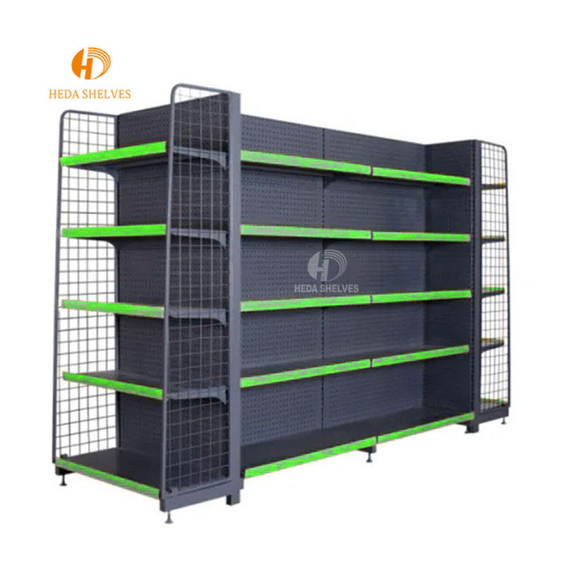 wholesale store supermarket supplies shelving grocery rack gondola racking