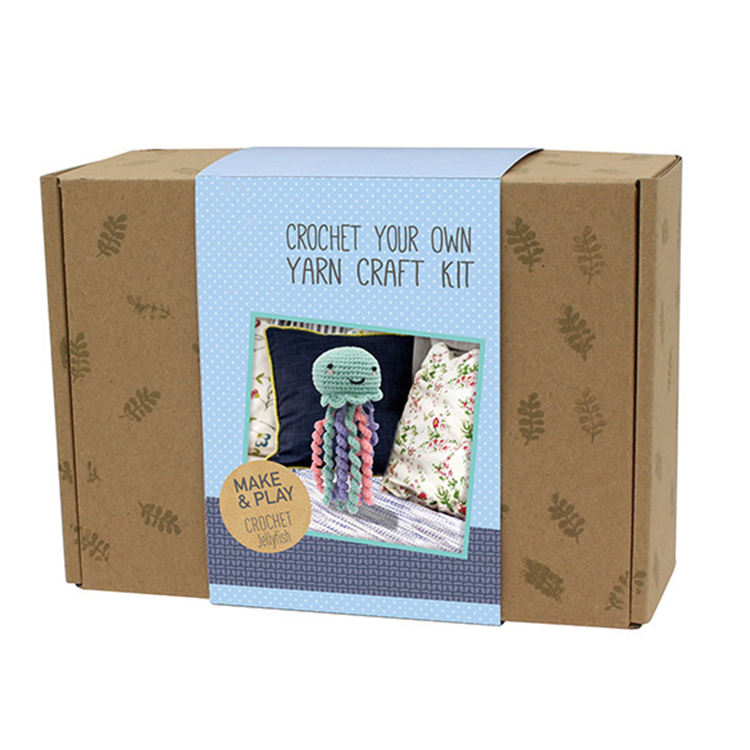 DIY Crochet Kit animal and crochet your own yarn craft kit make & play crochet jellyfish