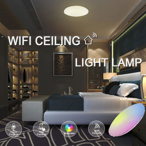 Smart Voice Sensor Led Modern Ceiling Light Competable With Amazon Alexa/Google Assistant Surface Mounted Intelligent Ceiling