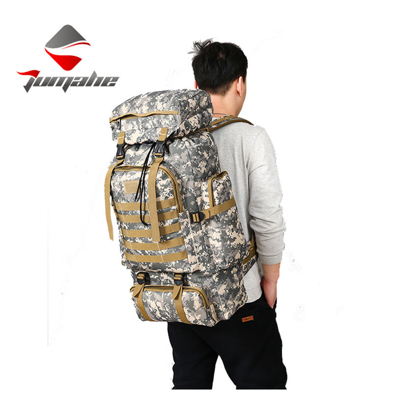 80L Waterproof Camo Tactical Backpack Travel Rucksack Outdoor Sports Climbing Bag Military Army Hiking Backpack