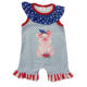 2020 Baby kids july 4th romper pig pattern star print toddler girls bubbles romper baby summer clothes kids 4th of july jumpsuit