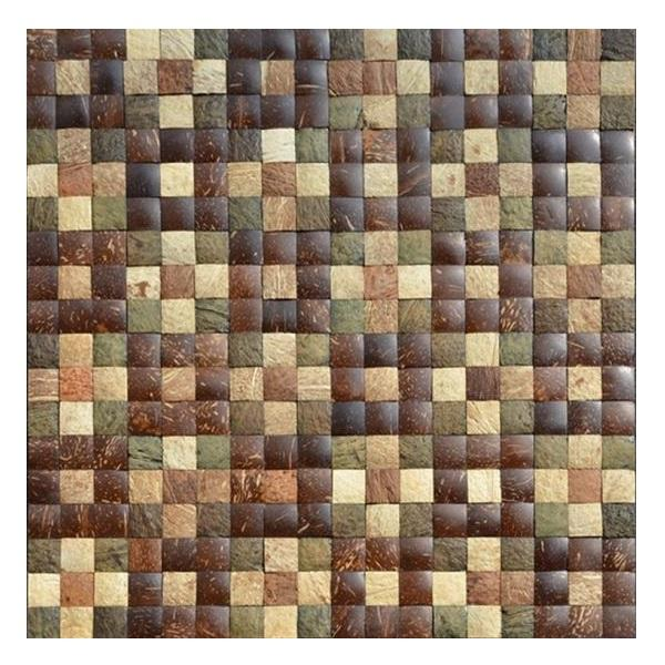 Coconut shell tiles for wall decoration