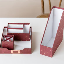 Modern design different types cardboard office school stationery set / stationery sets for gift
