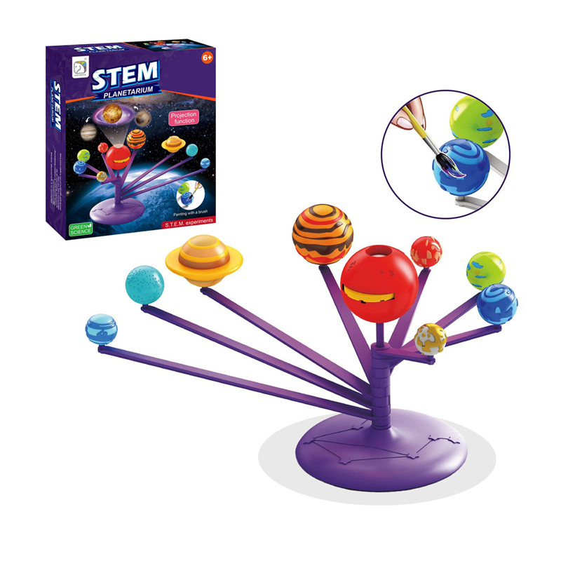 Creative power planets color painting Solar system scientific experiments educational toys for children