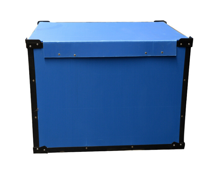 Corrugated Box Antistatic Plastic Tote Boxes ESD Component Bin With Cover