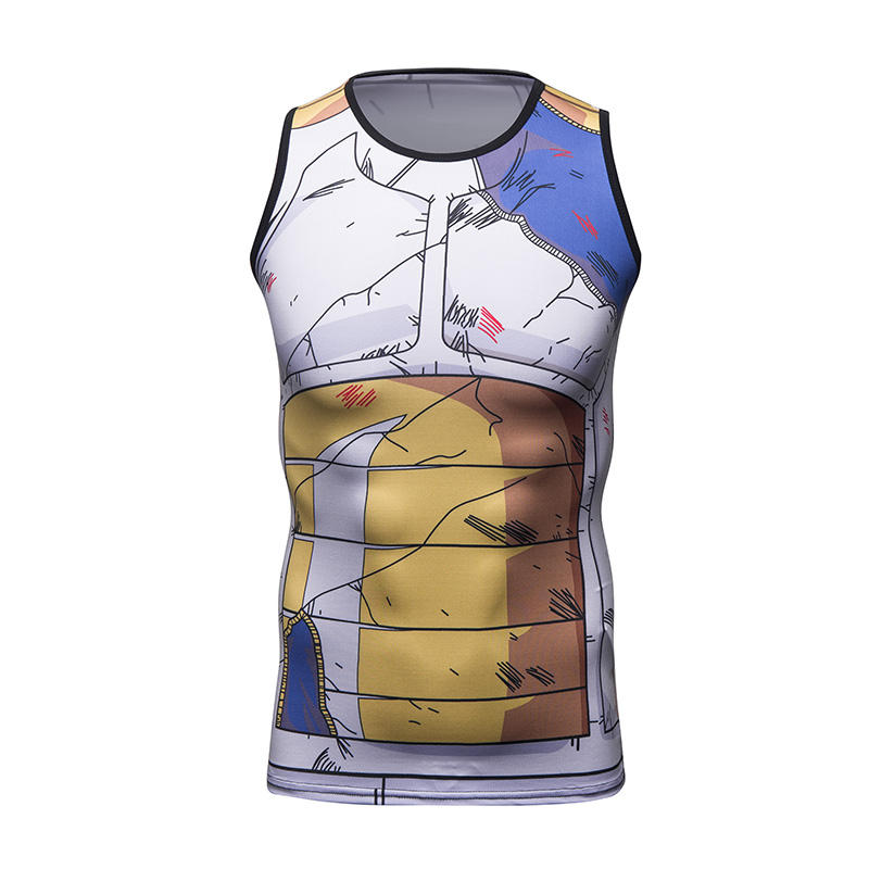 Cody Lundin 3D Anime Vegeta Tank Top Compression Sleeveless Shirt Men