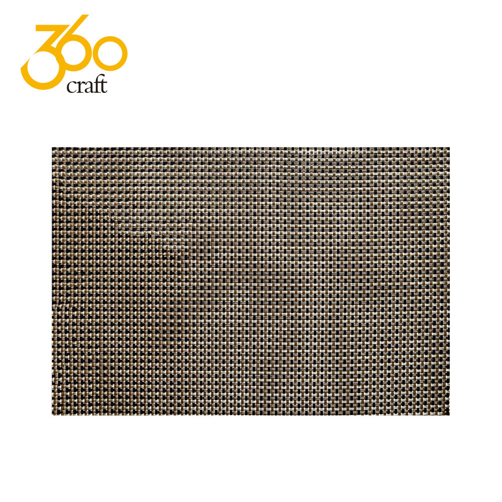 High Quality Unique Style Heat Resistant Washable Plastic Pvc Woven Placemats