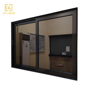 Best price modern low e reflect glass horizontal sliding hurricane impact aluminium storm windows for pakistan