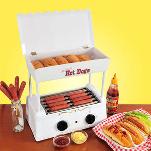 Hot dog roller grill stainless steel sausage grill hot dog roaster machine