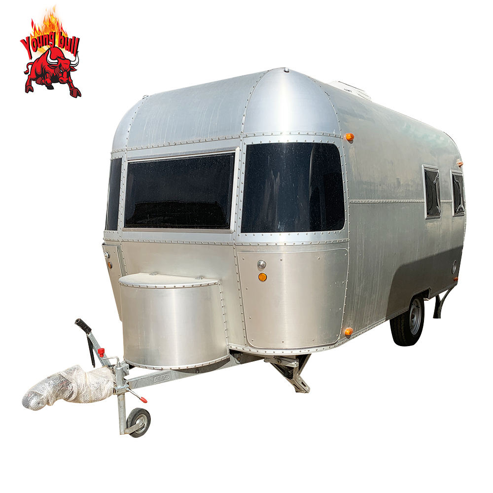 New Luxury Aluminum RV Towable Camping Caravans Travel Trailer
