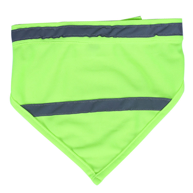Factory Customized New Design Reflective High Visivility Safety Soft Breathable Dog Scarf Pet Bandana