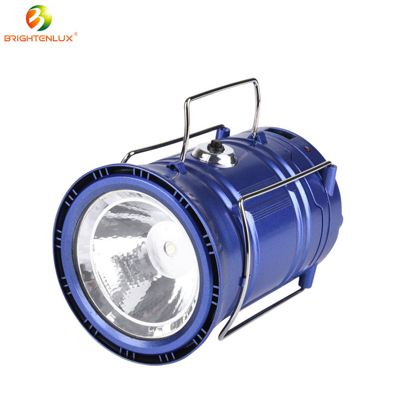 Power Solar Rechargeable Led Camping Lantern For Outdoor, Hiking, Tent