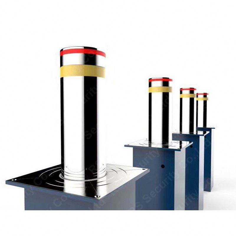 Fitness Centre Rising Traffic Bollards Motor 900mm Height Road Barriers System