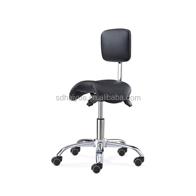 Small Back Saddle Seat Styling Laboratory Chair Stool used for Lab HY6020