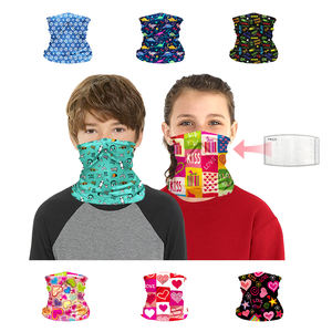 Children sports riding tube seamless bandana kids face scarf with filter pouch can be fitted with PM2.5 filter
