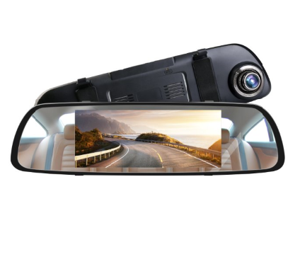 HOT 7.0 inch big screen 1080p Car DVR dual lens Rearview mirror Car Camera Mirror Dash Cam Car black box