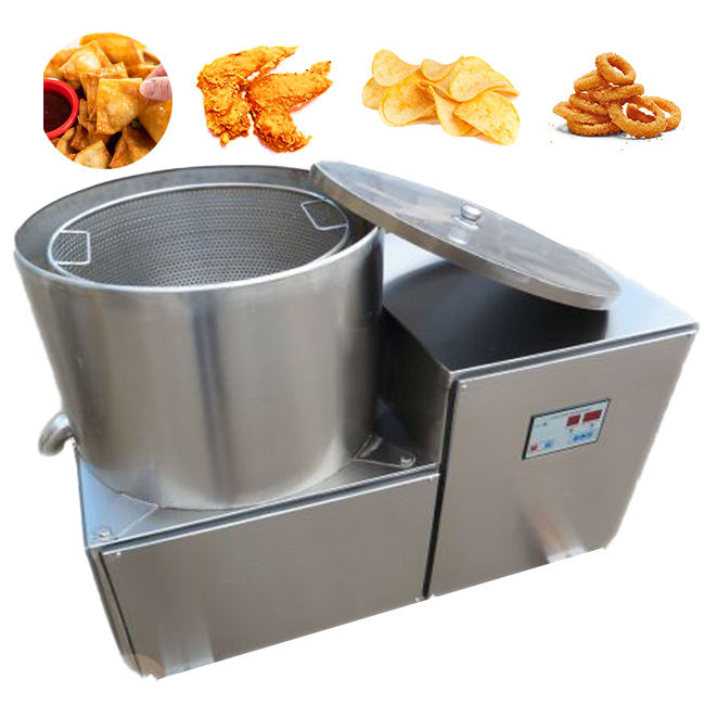 Fried food snack processing banana chips fried peanut deoiling machine fried food
