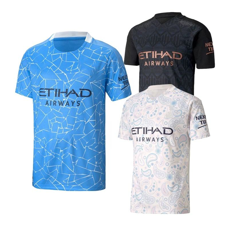 2020/21 Man Thai Quality Camisetas City Jersey Soccer T-Shirt
