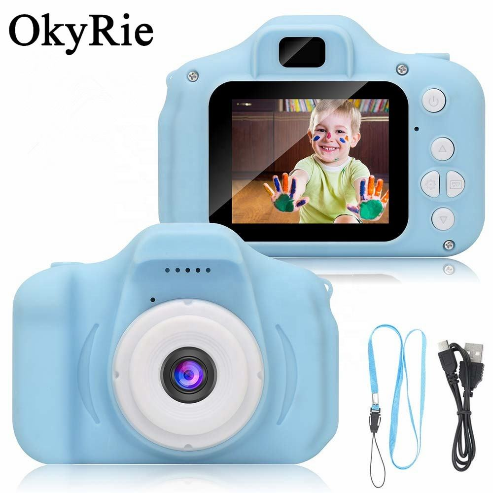 OkyRie Birthday Toy Gifts 4-12 Year Old Kid Action Camera Toddler Video Recorder 1080P IP Kids Camera Children Digital Cameras