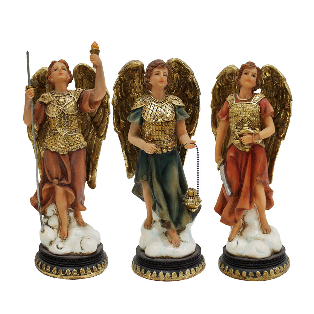 Resin Religious Statues Set of Seven Archangels