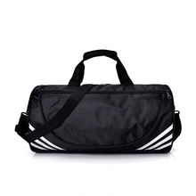 Custom Heavy Duty Large Fitness Travel Duffle Bag Waterproof Black Nylon Mens Sports Gym Duffel Bag
