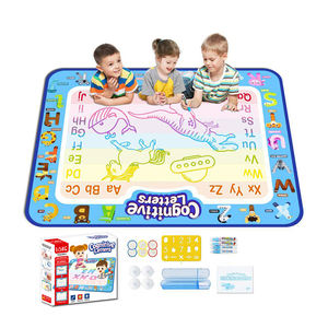 Factory wholesale drawing toys 100*80cm large water aqua doodle magic baby floor mat children play water drawing mat for kids